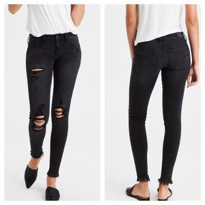 American Eagle Distressed Jegging Jeans Tall/XLong